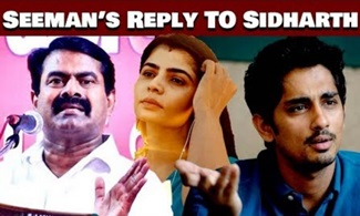 Seeman questions Actor Siddharth