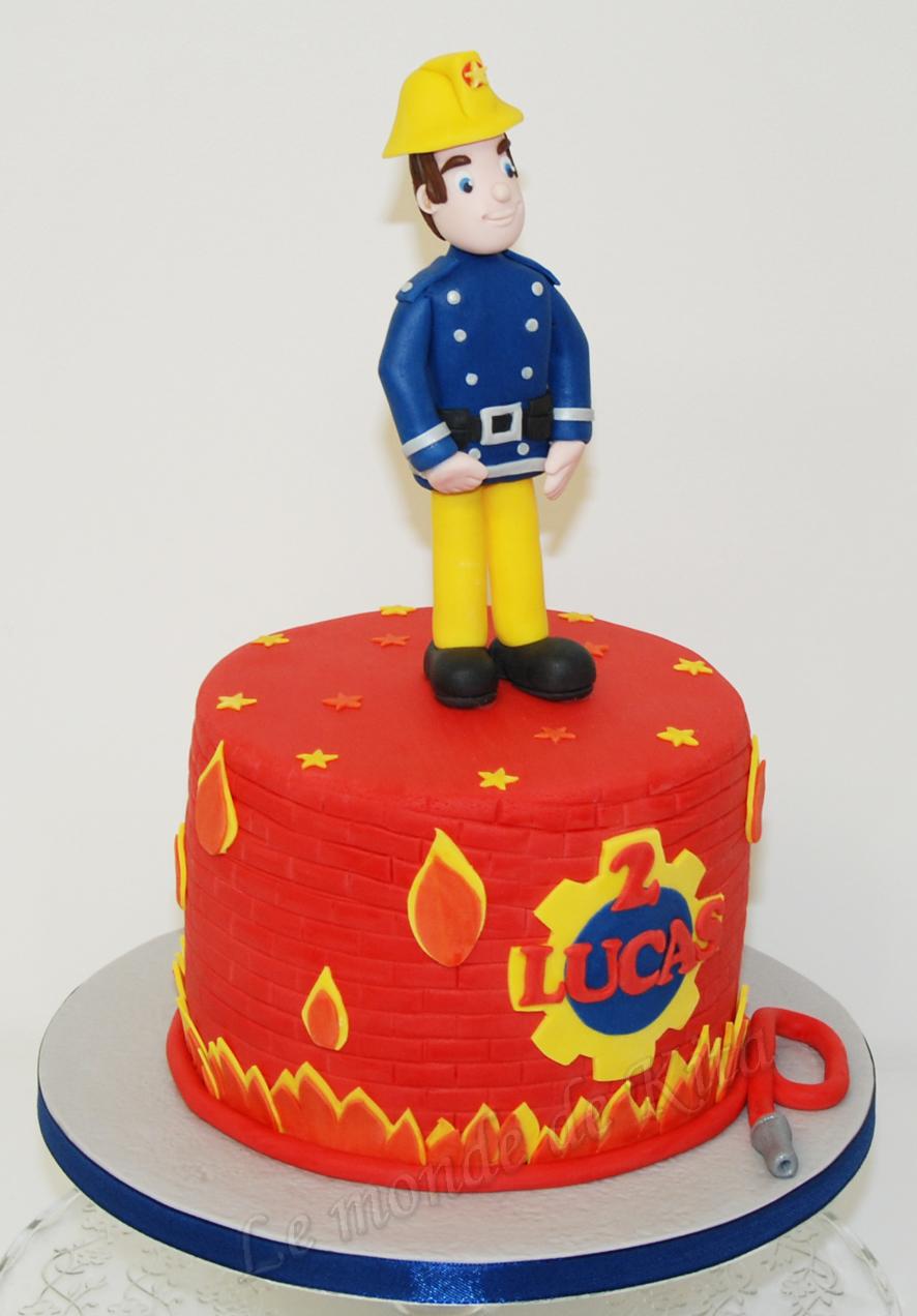 Le monde de kita - Gateau anniversaire sam le pompier ...