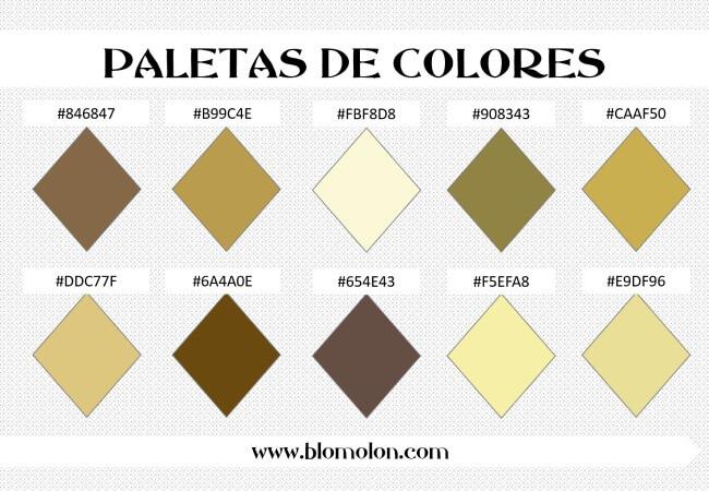 paleta de colores 2 combinaciones
