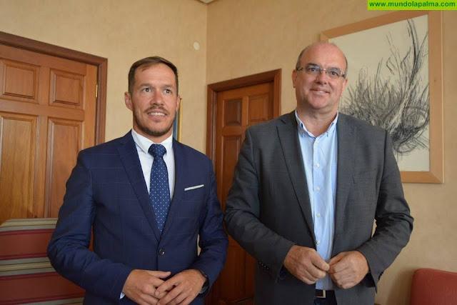 La Palma recibe la visita del consejero de Obras Públicas, Transporte y Vivienda, Sebastián Franquis