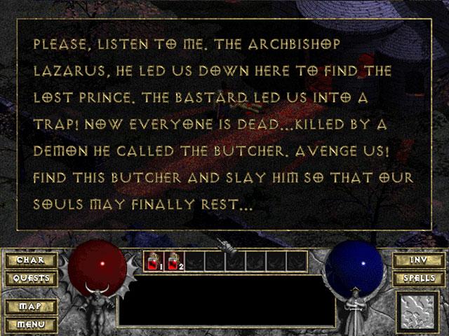 Diablo 1 Blizzard Captura de pantalla 6