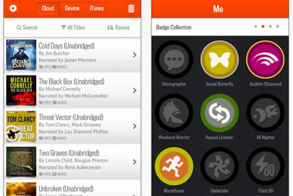 audible badges android