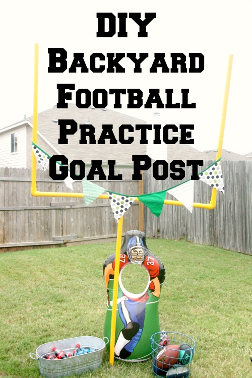 my life homemade diy backyard football practice goal post