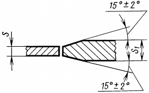ГОСТ 14771-76 Дуговая сварка в защитном газе. При разнице в толщине свариваемых деталей