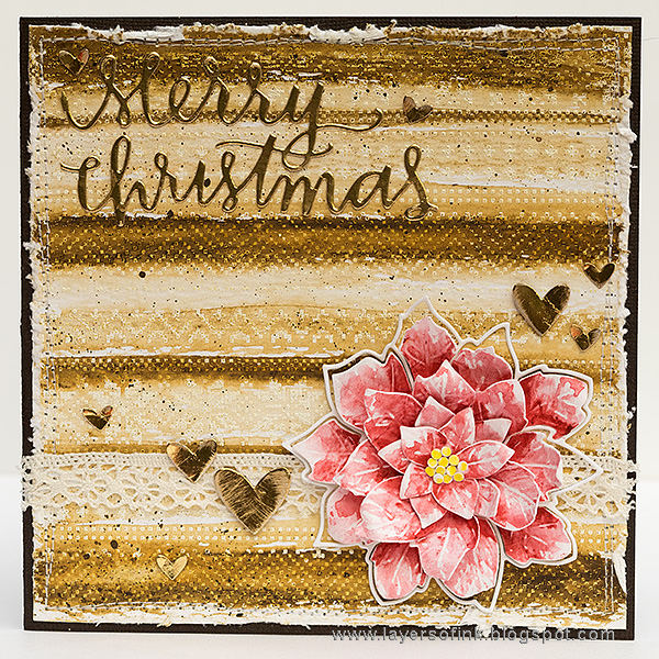 Layers of ink - World Cardmaking Day Tutorial by Anna-Karin, Poinsettia Christmas Card