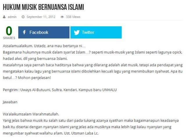 Hukum Musik Bernuansa Islami