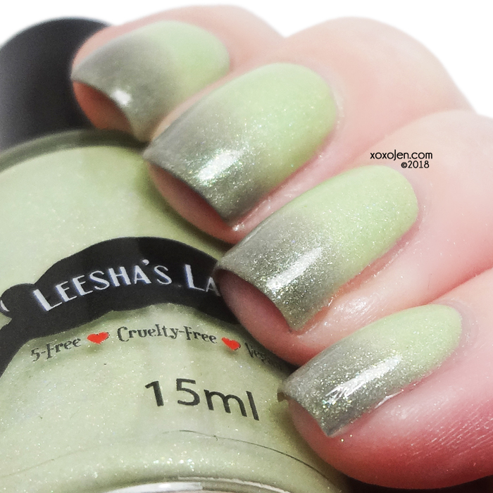 xoxoJen's swatch of Leesha's Lacquer Serpentine