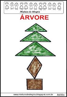 tangram desenho de árvore