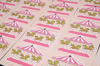 handmade carousel invitations