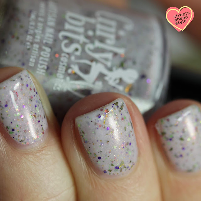 Girly Bits Party Gras swatch by Streets Ahead Style
