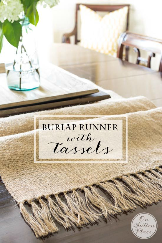 affordable farmhouse burlap runner, diy, burlap, farmhouse