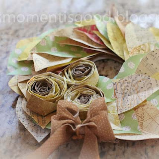 How to make a spring time paper wreath with roses