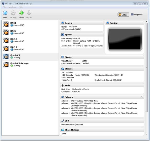 Installing Oracle VM Server 2 2 1, Oracle VM Manager 2 2 0
