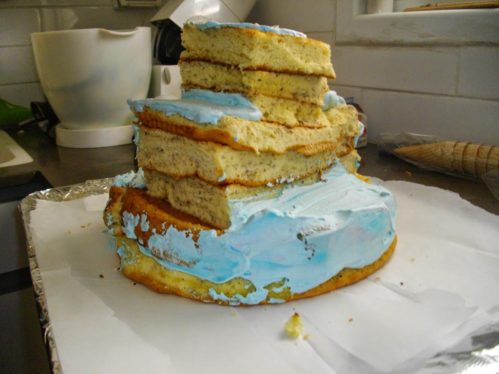 IMGP2861 - עוגת יומולדת בצורת ארמון