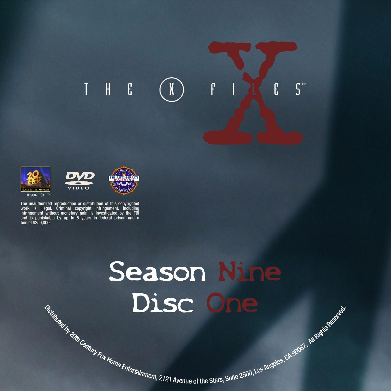 The X Files Season 9 DVD Label Disc1-7