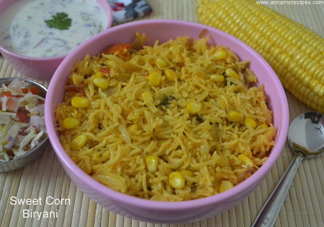 Sweet Corn Biryani
