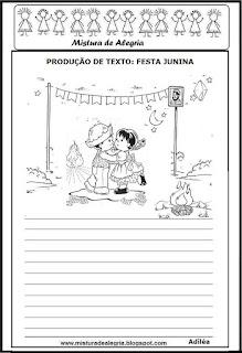 Atividades festa junina produção