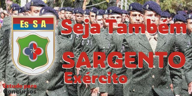 material concurso esa sargento do exercito