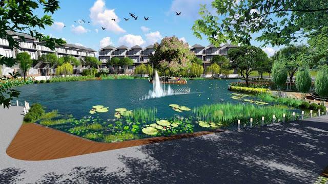 Hồ cảnh quan dự án căn hộ Green Star Sky Garden quận 7 Hưng Lộc Phát đầu tư.