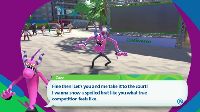 Zazz guest challenge table tennis boss Mario & Sonic at the Rio 2016 Olympic Games Wii U