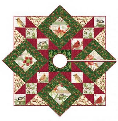 hexie tree skirt by aqs free pattern at quilt views - Pattern For Christmas Tree Skirt