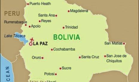 Peta Negara Bolivia