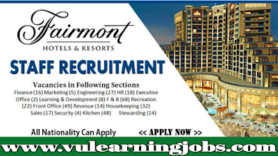Fairmont Dubai | Career Opportunities | Jobs In Middle East