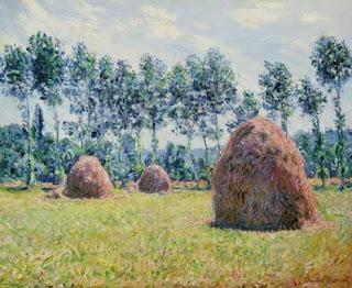 Haystacks at Giverny - Claude Monet