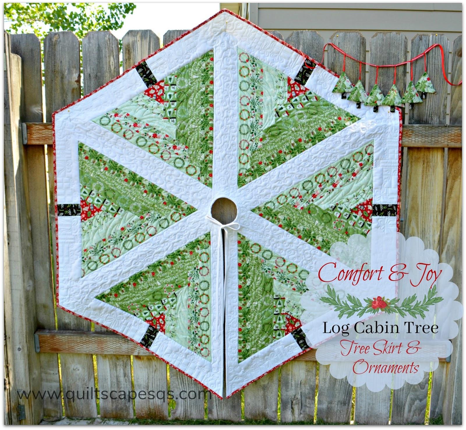Log Cabin Tree Skirt Ornaments By Deonn Stott Debbie Proctor