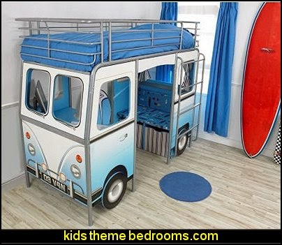 Blue DeVan Bed-theme beds-novelty beds
