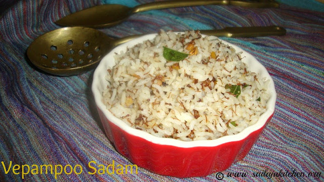 images of Vepampoo Sadam Recipe / Neem Flower Rice Recipe / Bevina Hoovu Anna Recipe