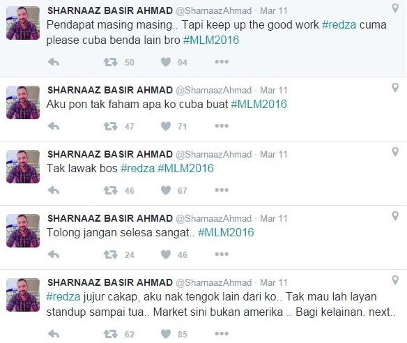 Sharnaaz Ahmad tak puas hati persembahan Rayza Mukmin di MLM 2016