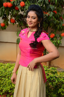 Ashmita in Pink Top At Om Namo Venkatesaya Press MeetAt Om Namo Venkatesaya Press Meet (7).JPG