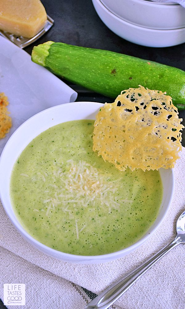 Zucchini Soup | by Life Tastes Good is a light, refreshing soup perfect for summer. It is simple to make in under 30 minutes, and the fresh flavor of this soup makes it a great start to any meal. Although, I have been known to pair this with a BLT for a satisfying dinner.