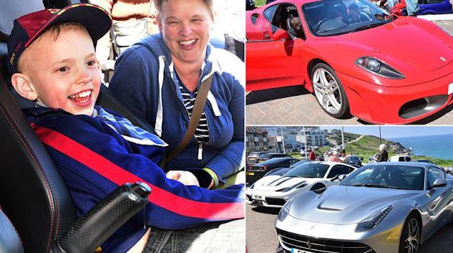 Δείτε τι συνέβη όταν 11χρονος που πεθαίνει ζήτησε για τα γενέθλιά του μια Ferrari