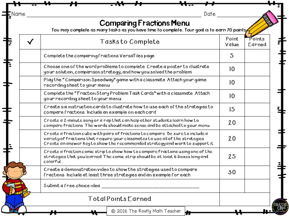 Transformation Tuesday Math Menus List Menu The Routty Math Teacher
