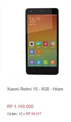 Xiaomi Redmi 1S-8GB-Hitam
