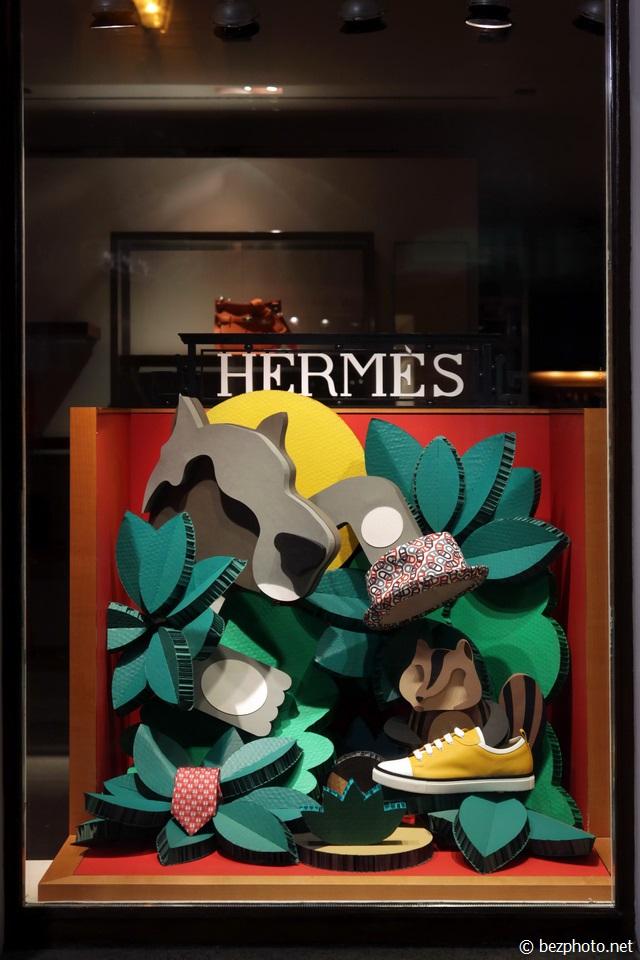витрины hermes весна 2016
