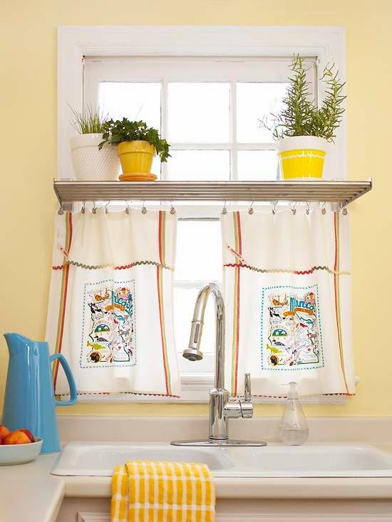 10 Idéias de cortinas para cozinha