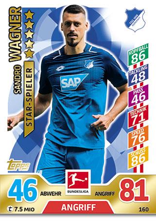 Torjäger Match Attax 2017//18 Bundesliga #397 Sandro Wagner
