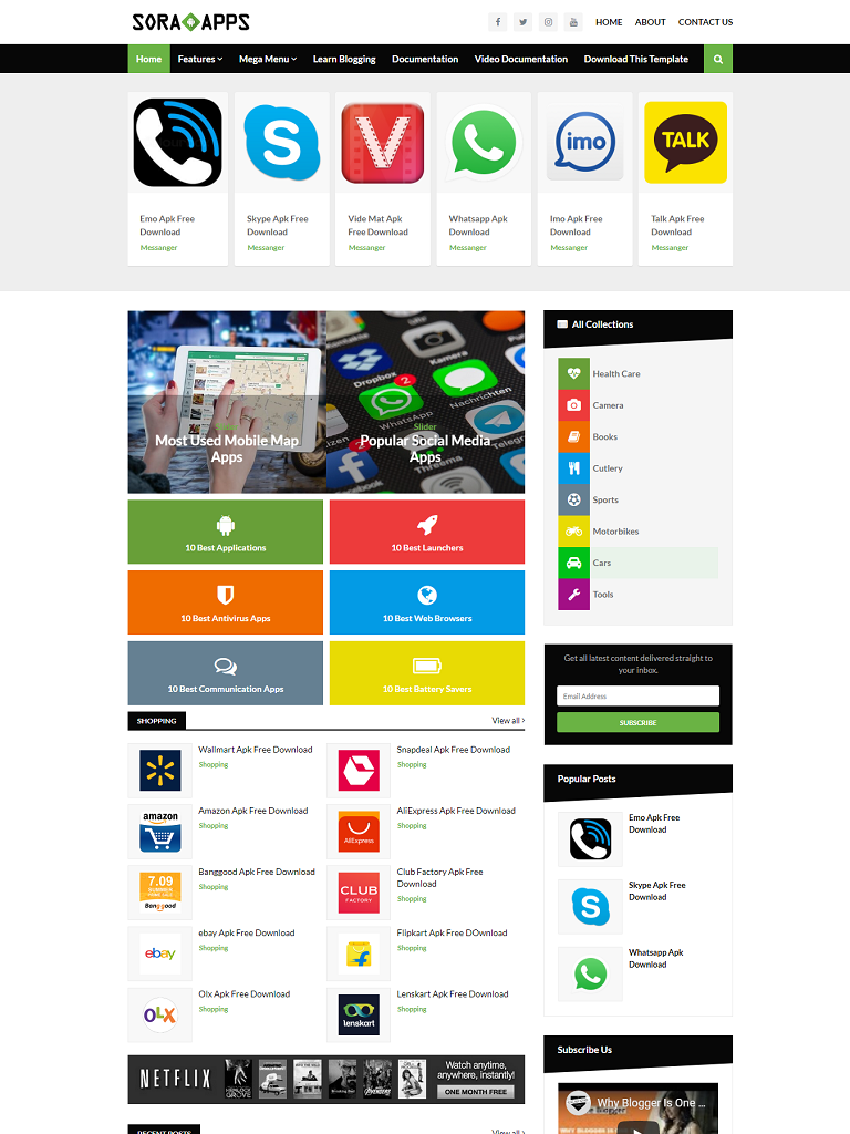Sora App Blogger Template