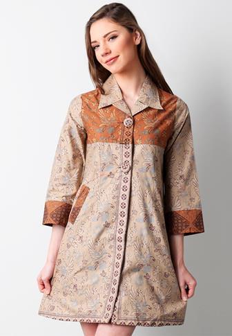 Model Baju Batik Atasan 2017