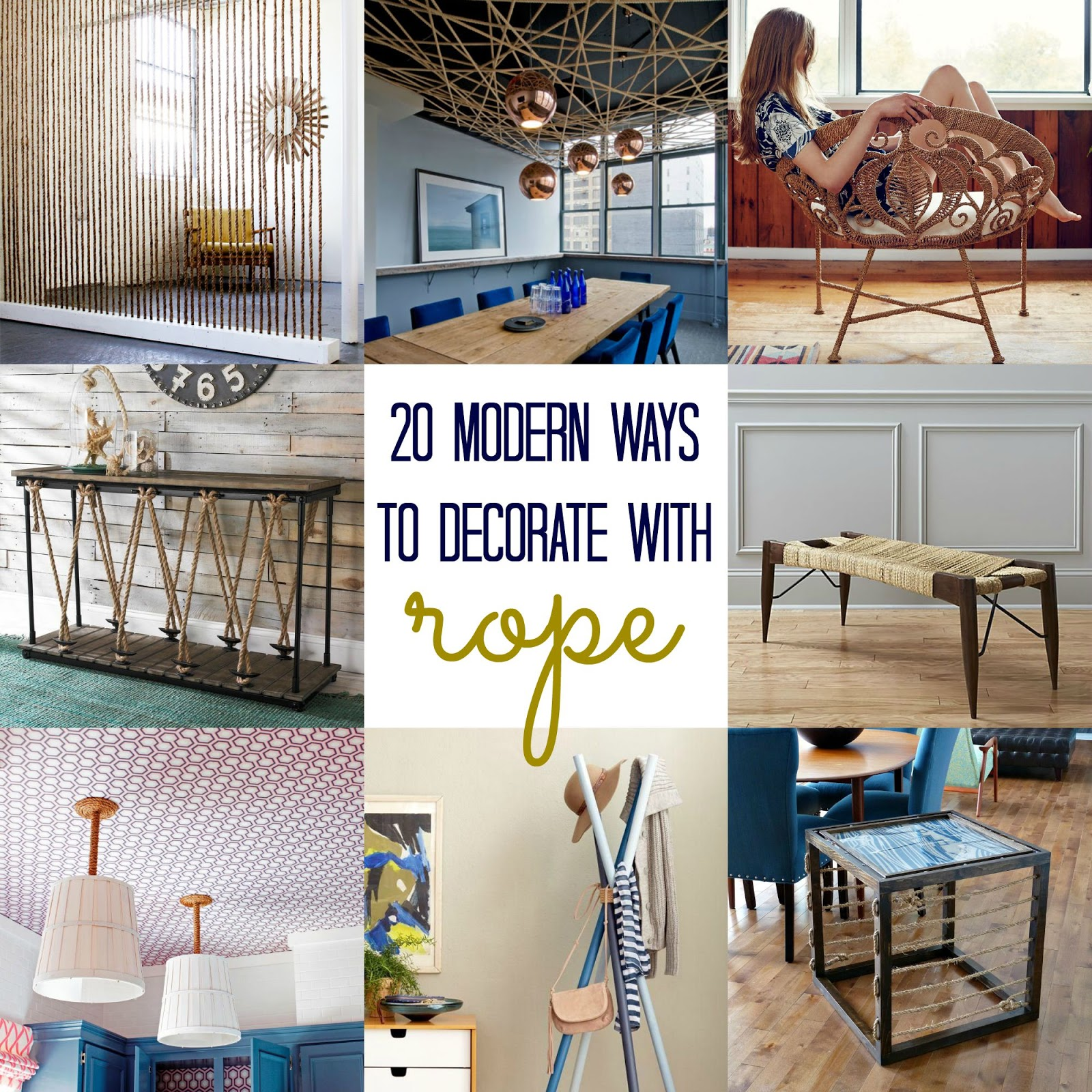 20 Modern Ways to Decorate with Rope