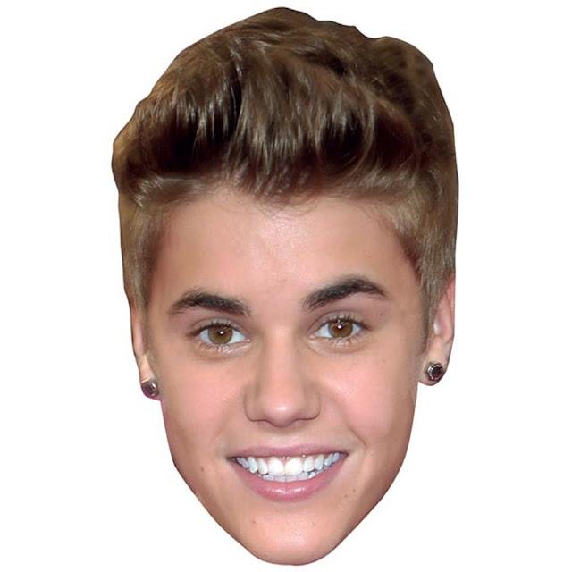 Máscaras de Justin Bieber para Imprimir Gratis.