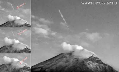Fényhajó repült ki a Popocatepetl vulkán belsejéből /VIDEÓ!/