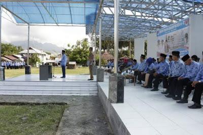 Bupati Sehan Salim Landjar jadi Irup pada Peingatan HUT Damkar yang dirangkaikan dengan Upacara Korpri