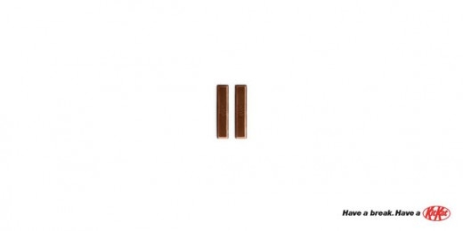 Green Pear Diaries, publicidad creativa, minimalista, Kit Kat
