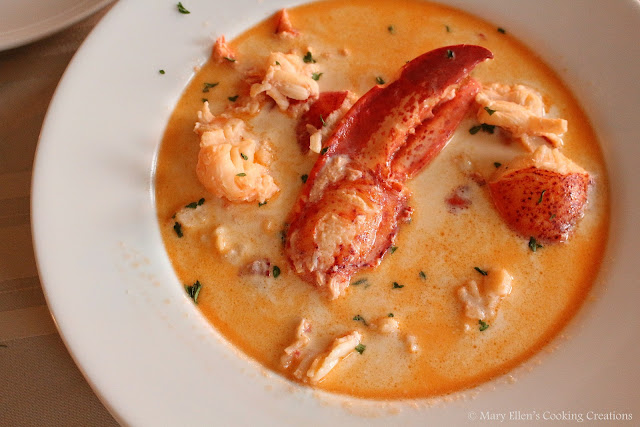 Maine Lobster Stew - decadent and creamy with sherry and lobster meat