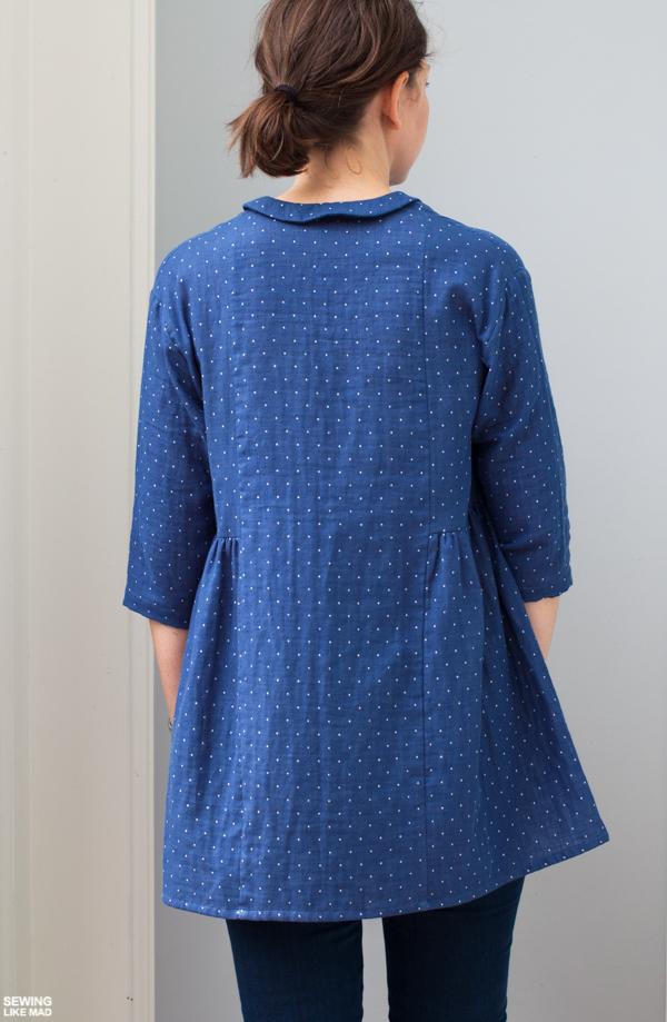Japan Rabbit Polka Dot Patchwork Oversized Knit Tunic Shirt Black