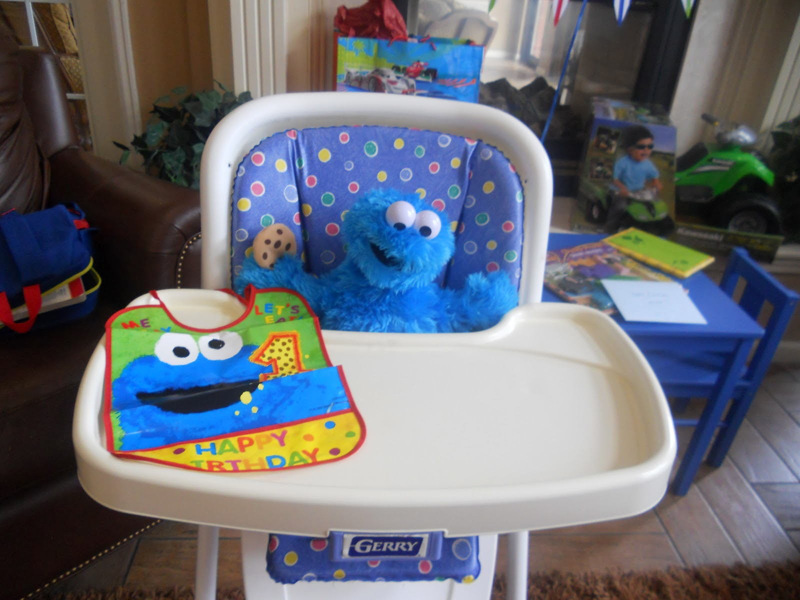 cookie monster chair living room chairs under 100 my full thyme life operation birthday complete